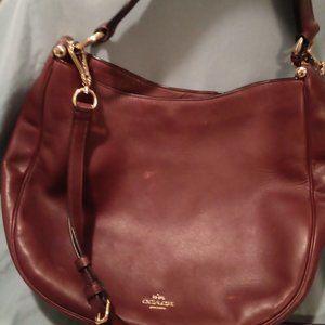 Coach Vintage Large Burgundy Sac Bag